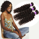 Cabelo brasileiro da venda quente de Aliexpress, cabelo de Malaysia, onda profunda de Culry do cabelo peruano