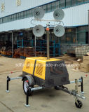 Instalada en un vehículo móvil de construcción de la torre de luz con generador Honda (FZMT-1000B)