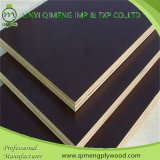 Construction를 위한 2 Time Hot Press Poplar Core Thickness 9mm-18mm 브라운 또는 Black Color Phenolic Glue Film Faced Plywood