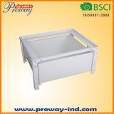 Waschmaschine-Unterseite mit einem Speicherfach