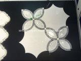 Новая чернота цветка конструкции и плитка мозаики Carrara мраморный