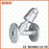 Válvula de ângulo pneumática de Esg com extremidades da flange