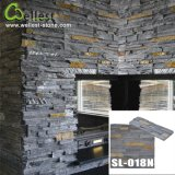 Yellow naturale Wooden Slate Culture Stone per Wall Cladding
