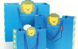 クラフト紙のショッピングギフト袋プリントペーパー・キャリアのパッキング袋(d15)