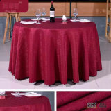 "Purple Color Jacquard 132 ""Table Cover"