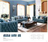 Голубой стул софы Antique ткани