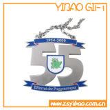 A presión la medalla plateada plata antigua del recuerdo de la fundición (YB-MD-10)