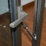 Guichet en aluminium anodisé élevé de tissu pour rideaux du profil Kz019 avec le blocage multi