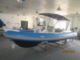 中国の市場の海洋のボートのLiya 24.6FTのガラス繊維のボートの双生児エンジン(HYP750)