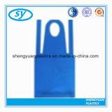 Beschikbare Plastic PE Schort in Lichtblauwe Kleur