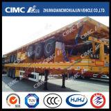 Cimc Huajun el 14m Flatbed Pesado-Duty Semi Trailer con 80tons Capacity