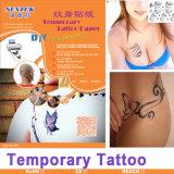 Papel temporal de la etiqueta de la diapositiva de agua del papel del tatuaje de la inyección de tinta/laser