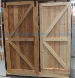 Dimon 30 po. X 84 po. Porte en bois intérieure rustique de type américain (DM-WD 009)