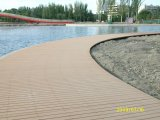 Revestimento estratificado ISO9001 do Decking de WPC
