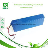 48V 20ah Pak van de Batterij van het 1000W het Navulbare Lithium met het Blauwe Pak van de Batterij van pvc en van Li-Po van Draden
