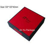 Rectángulos de empaquetado de Sequare del regalo de papel negro y rojo de la joyería