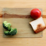 Tablero de corte del vidrio templado de la cocina del diseño del cliente