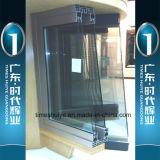Puerta deslizante de aluminio de Huiye de las épocas con el espesor de cristal 1.0mm~3.0m m de la capa doble