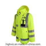 ANSI107証明書が付いている反射安全雨ジャケット(C2443)