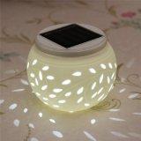 세라믹 지구 공 테이블 램프를 바꾸는 LED 태양 에너지 연한 색