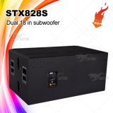 Stx828s Lautsprecher-Kasten verdoppeln das 18 Zoll-Baß-Sortierfach-lauter Lautsprecher