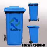 a roda de borracha plástica do escaninho de lixo 240L pode para ao ar livre