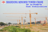 Gru a torre della costruzione della Cina Mingwei Qtz63 (TC5013) con la lunghezza di tonnellate/fiocco del caricamento massimo 6: caricamento 50m/Tip: 1.3t