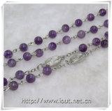 紫色の水晶は玉を付ける数珠、写真の回転吊り下げ式の数珠(IOcr367)に