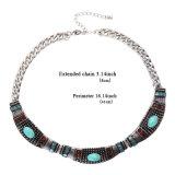 De Halsband van de nauwsluitende halsketting die van Synthetische Steen wordt gemaakt/het Gieten in anti-Goud/anti-Zilver