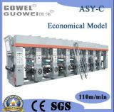 Ökonomische 8 Farben-mittlere Geschwindigkeits- Zylindertiefdruck-Drucken-Maschine