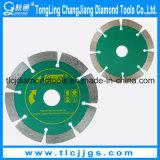 Diamant die het Blad van de Cirkelzaag voor de Scherpe Bakstenen van de Techniek snijden