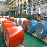 acero galvanizado cubierto color PPGI de 0.37*914m m