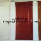Projeto de madeira da porta do Teak principal da entrada do quarto
