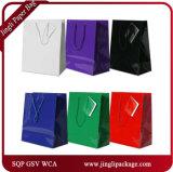Os sacos de papel de compra do presente verde laminaram sacos de portador dos sacos da laminação dos sacos do presente