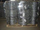 Arame farpado de ferro galvanizado em eletro e quente