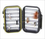 Schwarze Farben-Doppelt-Seiten imprägniern Fischen-Fliegen-Kasten