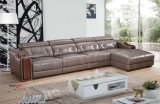 Sofá del Recliner, sofá de cuero del aire, muebles caseros L sofá de la dimensión de una variable (666)