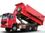 Tipo 6X4 de Sinotruk que conduz o caminhão de descarga da coberta