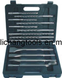 13PCS SDS Plus Drill Bit Set con Blow Caso