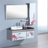 Muebles simples del cuarto de baño del acero inoxidable con la cabina lateral