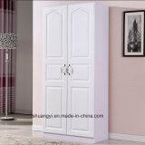 ヨーロッパのスタイルを作られた切り分けられた贅沢2のドアのワードローブ