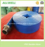 Da descarga flexível plástica da agricultura da irrigação da água do PVC mangueira de dragagem Layflat