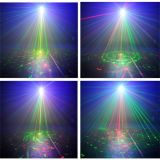 Mini lumière laser 300MW éclairage LED 8gobos et 3W bleu de Rgrg de L6408rrgg avec à télécommande