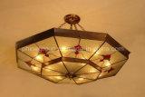 De Lamp van het Plafond van het koper met Verlichting van 19006 Plafond van het Glas de Decoratieve