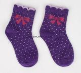 Fabrik kundenspezifisches  Großhandelsbaumwolle strickte nahtlose Baby-Kind-Kinder  Socken