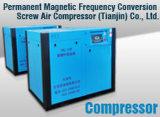 Électrique diriger le compresseur d'air rotatoire piloté de vis de rotors jumeaux