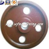 Rueda volante de cobre amarillo modificada para requisitos particulares OEM del bastidor del hierro de la arena/rueda volante