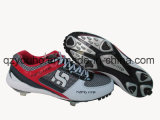 Cores sortidas de beisebol de tênis Round Toe Lace up Metal Baseball Cleats