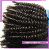 Weft выдвижения черных волос для выдвижения человеческих волос девственницы сбывания