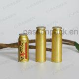 Lata de aerosol de aluminio de oro para el spray impermeable de la niebla del aceite (PPC-AAC-040)